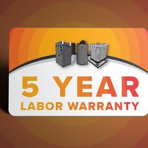 5 Year Labor Warranty