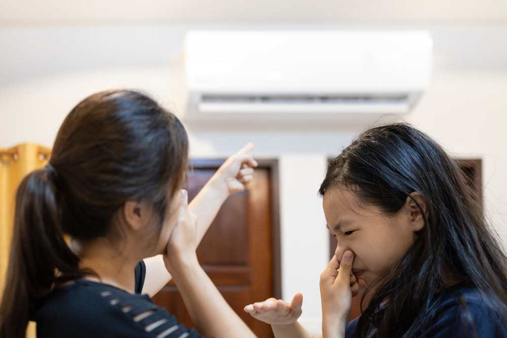 What should you not do with an air conditioner